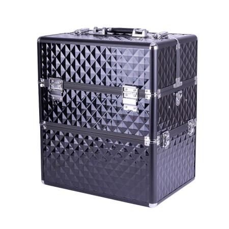 Dvojdielny kozmetický kufrík - 3D čierny NechtovyRAJ.sk - Daj svojim nechtom všetko, čo potrebujú