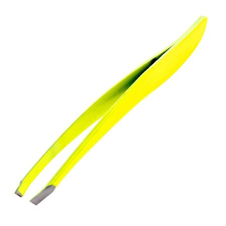 Profesionálna kozmetická pinzeta šikmá neon žltá NechtovyRAJ.sk - Daj svojim nechtom všetko, čo potrebujú