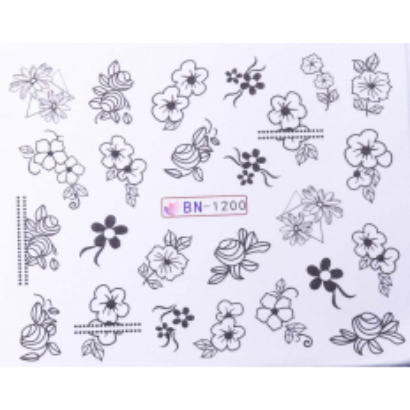 Vodonálepky s motívmi kvetov BN-1200 NechtovyRAJ.sk - Daj svojim nechtom všetko, čo potrebujú