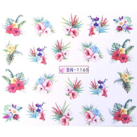 Vodonálepky s motívom kvetov BN-1165 NechtovyRAJ.sk - Daj svojim nechtom všetko, čo potrebujú