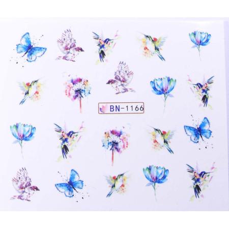 Vodonálepky s motívom motýľov BN-1166 NechtovyRAJ.sk - Daj svojim nechtom všetko, čo potrebujú
