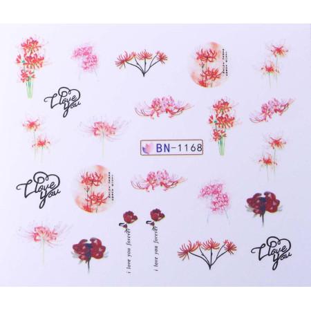 Vodonálepky s motívom kvetov BN-1168 NechtovyRAJ.sk - Daj svojim nechtom všetko, čo potrebujú
