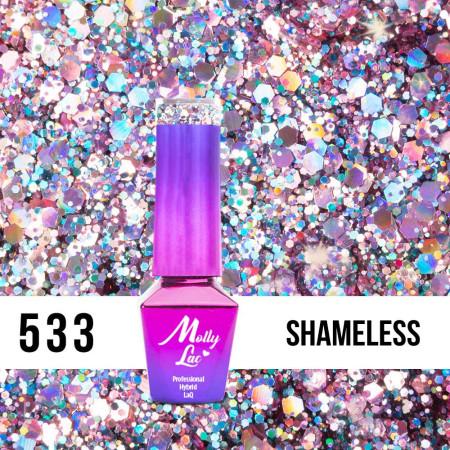 533. MOLLY LAC gél lak Luxury- Shameless