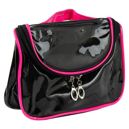 Kozmetická taštička transparentná - čierno ružová NechtovyRAJ.sk - Daj svojim nechtom všetko, čo potrebujú