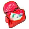 Kozmetická taštička transparentná - červená NechtovyRAJ.sk - Daj svojim nechtom všetko, čo potrebujú