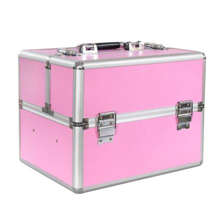 Nechtovyraj kozmetický kufrík ružový NechtovyRAJ.sk - Daj svojim nechtom všetko, čo potrebujú