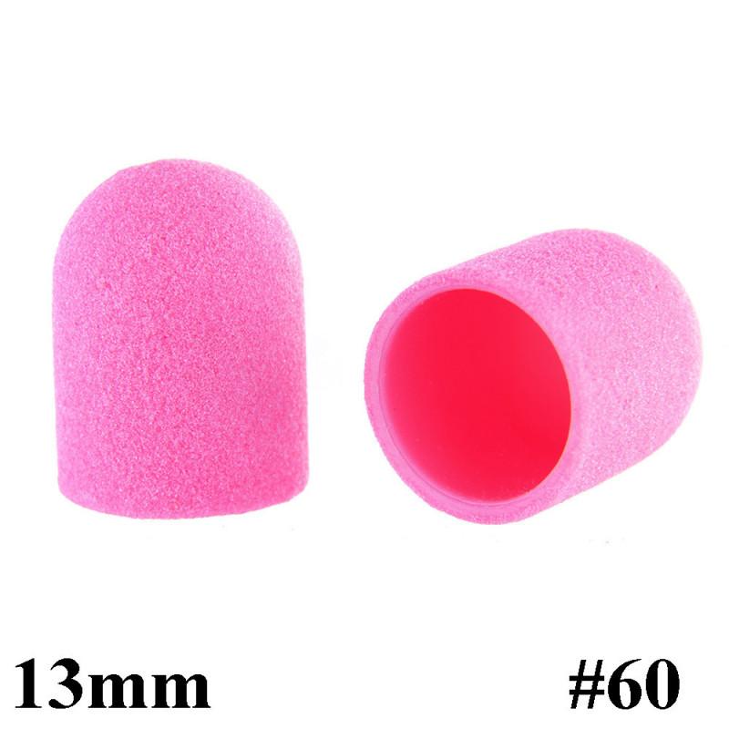 Brúsne klobúčiky ružové 10ks zrnitosť 60 primer 13mm NechtovyRAJ.sk - Daj svojim nechtom všetko, čo potrebujú