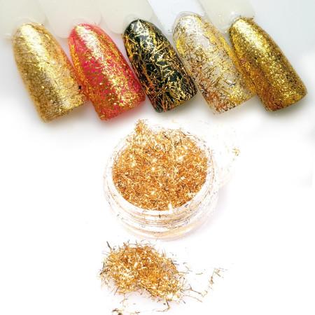 Lesklé mikro tenké nite na ozdoby Spiderweb Gold 4 NechtovyRAJ.sk - Daj svojim nechtom všetko, čo potrebujú
