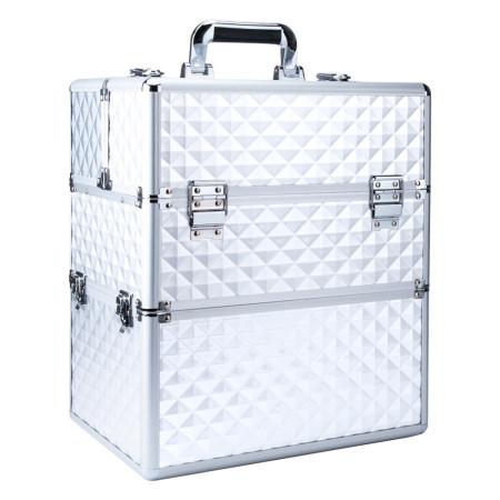 Dvojdielny kozmetický kufrík- 3D strieborný 02 NechtovyRAJ.sk - Daj svojim nechtom všetko, čo potrebujú