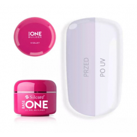 Base one UV gél clear Violet 15g