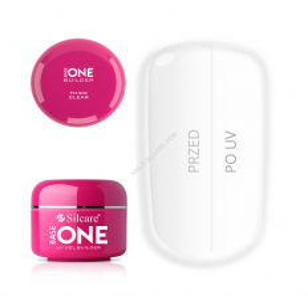 UV gél Base one Thick Clear 100 g