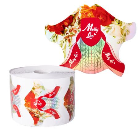Šablóny na nechty Molly Lac kvety 500 ks NechtovyRAJ.sk - Daj svojim nechtom všetko, čo potrebujú