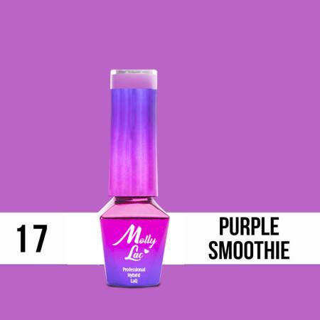 17. MOLLY LAC gél lak -Purple Smoothie 5ML