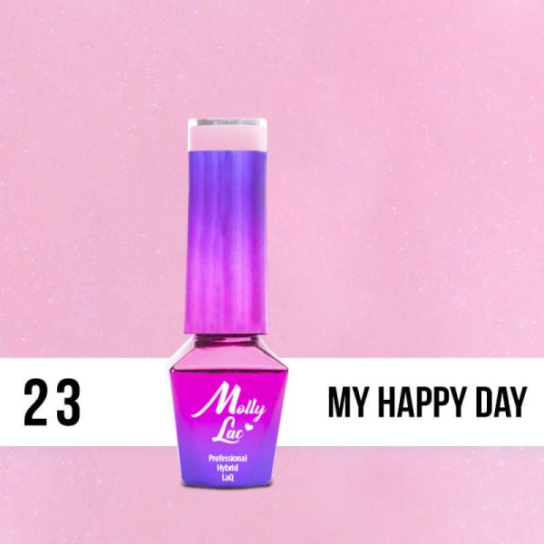 23. MOLLY LAC gél lak - MY HAPPY DAY 5ML NechtovyRAJ.sk - Daj svojim nechtom všetko, čo potrebujú