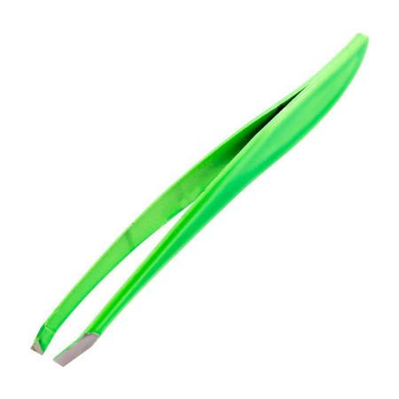 Profesionálna kozmetická pinzeta šikmá neon zelená NechtovyRAJ.sk - Daj svojim nechtom všetko, čo potrebujú