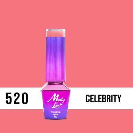 520. MOLLY LAC gél lak - Celebrity 5ml NechtovyRAJ.sk - Daj svojim nechtom všetko, čo potrebujú