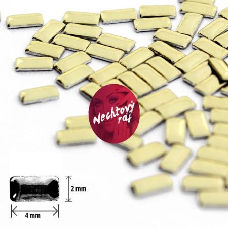 Ozdoby obdĺžnik zlatý 2 x 4 mm NechtovyRAJ.sk - Daj svojim nechtom všetko, čo potrebujú