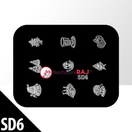 Doštička na Vianočné pečiatky SD6 - F002 NechtovyRAJ.sk - Daj svojim nechtom všetko, čo potrebujú
