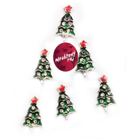 3D stromčeky 6 ks červená hviezda NechtovyRAJ.sk - Daj svojim nechtom všetko, čo potrebujú