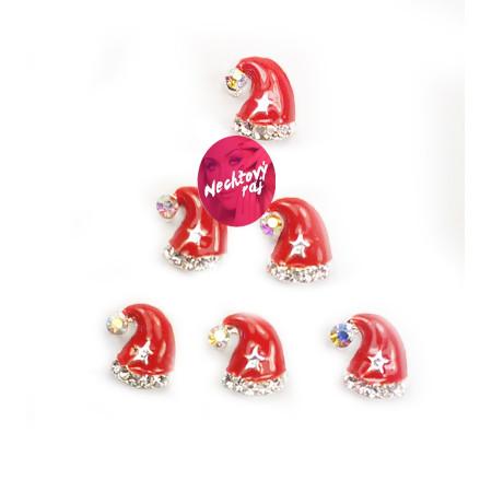 3D čapica Santa Claus 6 ks NechtovyRAJ.sk - Daj svojim nechtom všetko, čo potrebujú