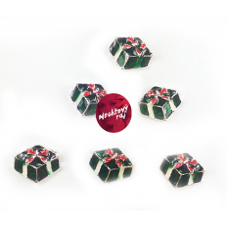 3D darček zelený 6 ks
