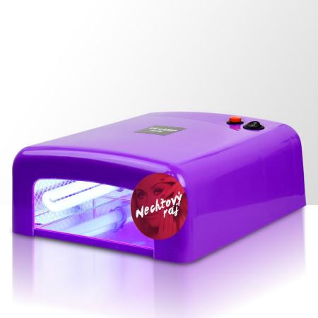 UV lampa 36W Profesional 2 hranatá  - fialová