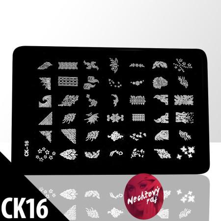 Doštička M   typ CK16