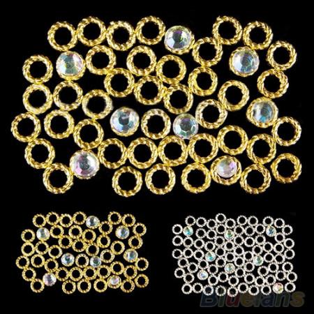 Luxury krúžky zlaté 1 ks NechtovyRAJ.sk - Daj svojim nechtom všetko, čo potrebujú