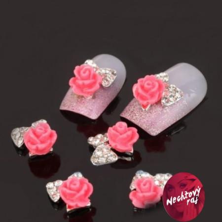 3D Luxury ozdoba ruža s mašlou