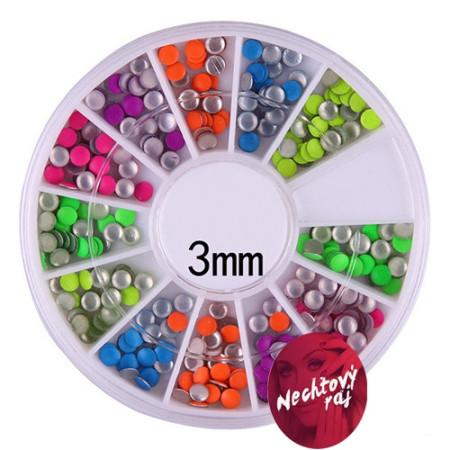 Sada neónových ozdôb 3D - kolieska 3 mm NechtovyRAJ.sk - Daj svojim nechtom všetko, čo potrebujú
