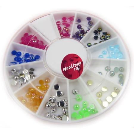 Ozdobné kamienky perleťové - mix farieb