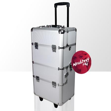Kozmetický kufrík veľký strieborný