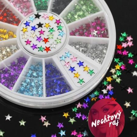 Farebné 3D hviezdičky