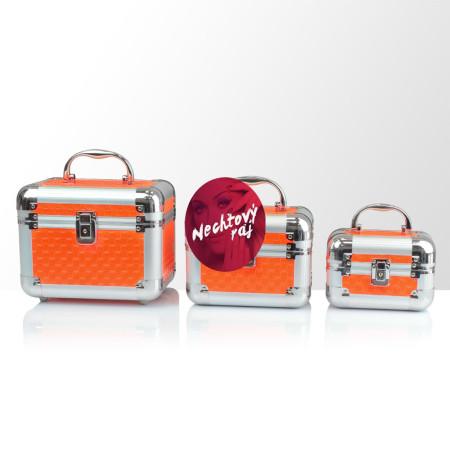 Zostava kozmetických kufríkov - oranžové 3 ks