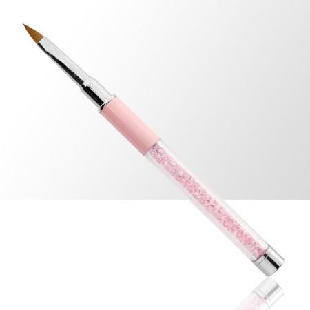 Štetec na akryl č. 4 ružový s prírodnými štetinami NechtovyRAJ.sk - Daj svojim nechtom všetko, čo potrebujú