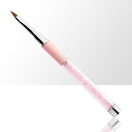 Štetec na akryl č. 2 ružový s prírodnými štetinami NechtovyRAJ.sk - Daj svojim nechtom všetko, čo potrebujú