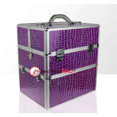 Kozmetický kufrík krokodíl -fialový