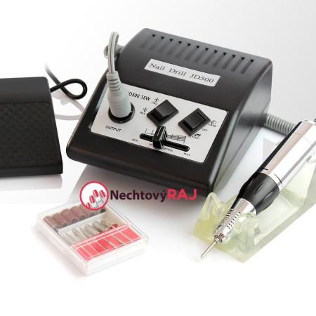 Elektrická brúska na nechty JD 500 - čierna