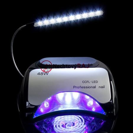 LED CCFL LAMPA  48 W s USB led osvetlením- čierna