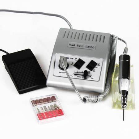 Elektrická brúska na nechty JD 500 + 30 nádstavcov