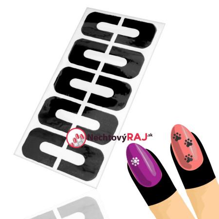 Ochranné nálepky na prsty - čierne