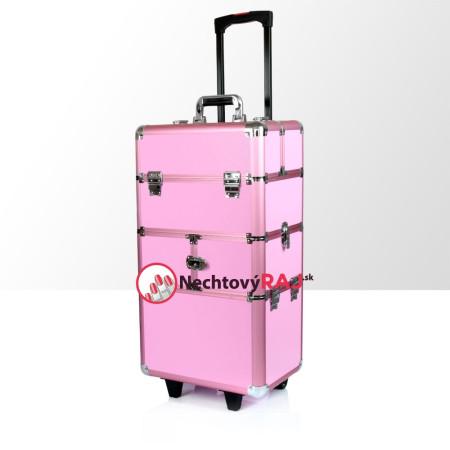 Kozmetický kufrík veľký ružový 02 pre kozmetičky a nechtarky - kupite na nechtovyraj.sk