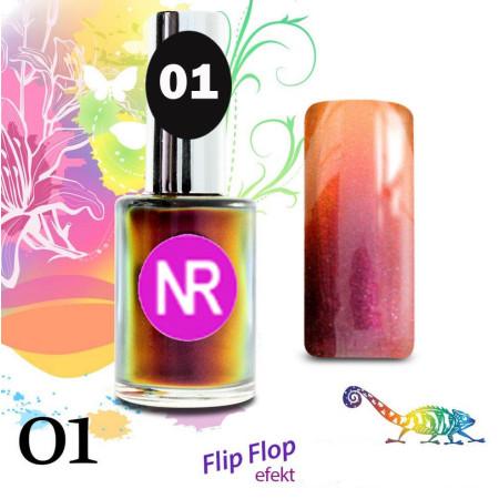 Lak na nechty Flip - Flop 1 15 ml
